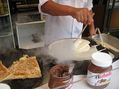 Faisage de crêpe