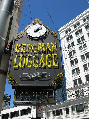 Bergman Luggage Sign Clock