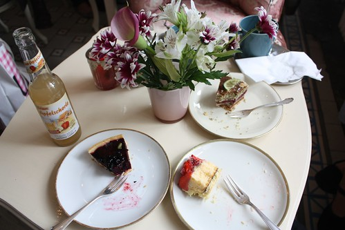I had cake with friends