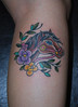 Carousel Horse Tattoo [flowers and vines