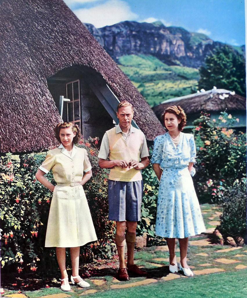 King George VI with Margaret and Elizabeth 1947