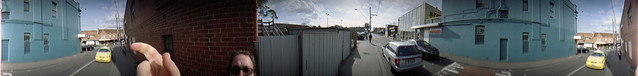 The Blue Wall & The Finger  - Lomography Spinner 360°