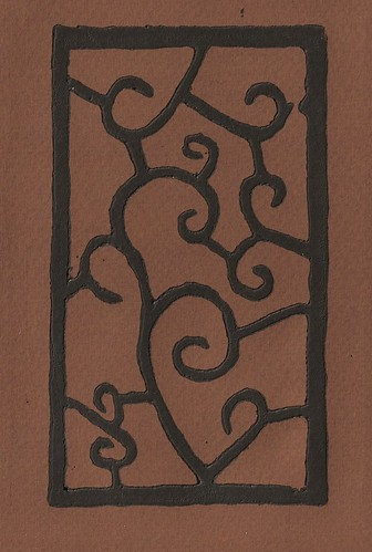 Woodblock with curves - Tiziano brown 1