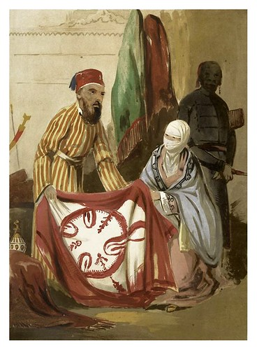 013-Mujer turca de compras-Sketches of character and costume in Constantinople 1854- Forbes Mac Bean