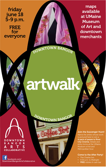 18th Downtown Bangor ArtWalk Poster.