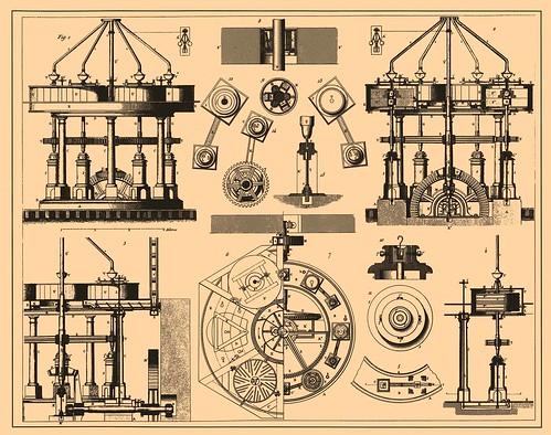 clock illustration mechanical russia clockwork gears encyclopedia publicdomain horology brockhaus brockhausandefron brockhausefron