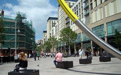 Looking Down the Hayes (joncandy) Tags: city photo image centre cardiff picture hayes joncandy
