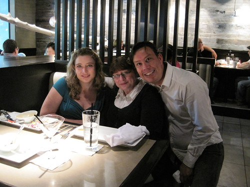 Lunch with Rebecca Bollwitt and her Mom at Milestones on Robson