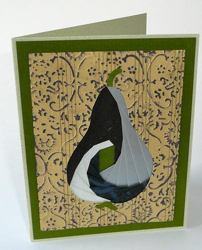 Iris folding - vintage pear
