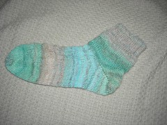 Handspun sock, 1 of 2