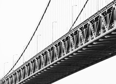 span (eb78) Tags: sf sanfrancisco california ca bridge blackandwhite bw monochrome baybridge grayscale span greyscale sfist