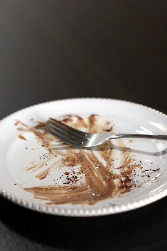 Classic Chocolate Mousse and Espresso Coffee Chocolate Chip Mousse Cake - all gone!