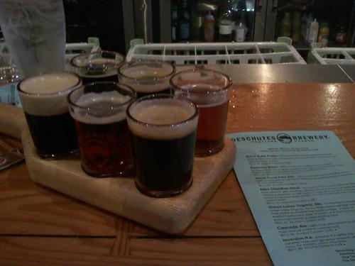 Flights of Beer at Deschutes