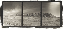Desert Triptych pd (efo) Tags: bw mountain desert nevada digitalnegative altprocess palladiotype penorama efo:site=6