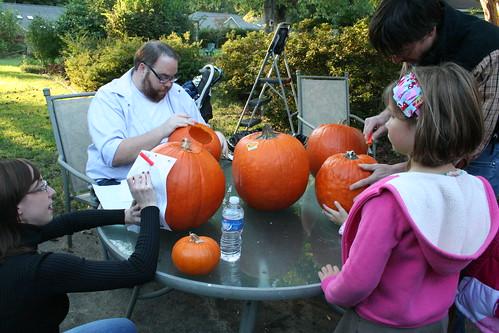 Intense pumpkin carving