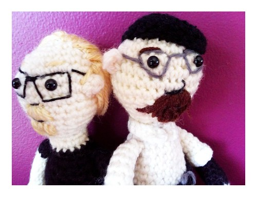 Adam and Jamie from Mythbusters in Crochet