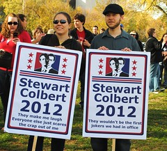 Stewart Colbert 2012 (ekelly80) Tags: signs mall washingtondc dc jonstewart dcist sanity stephencolbert comedycentral october2010 we3dc october302010 marchtokeepfearalive rallytorestoresanity stewartcolbertrally rallytorestoresanityandkeepfearalive jonstewartstephencolbertrally stewartcolbert2012