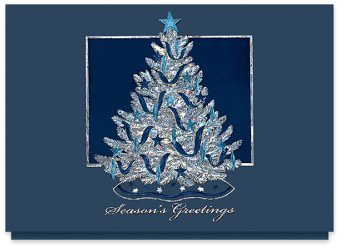 shimmering tree christmas card