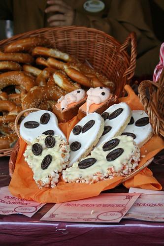 Halloween treats in Belle's Christmas Village