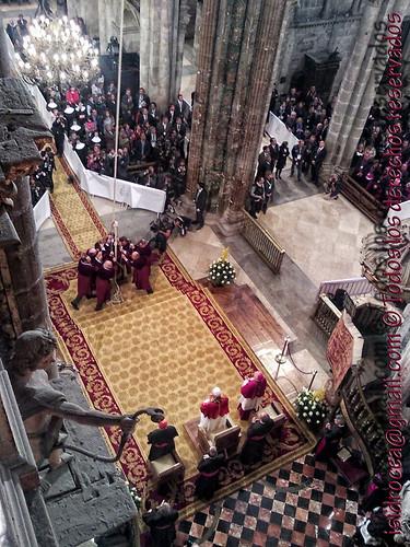 El Papa, los tiraboleiros y la araña de la catedral
