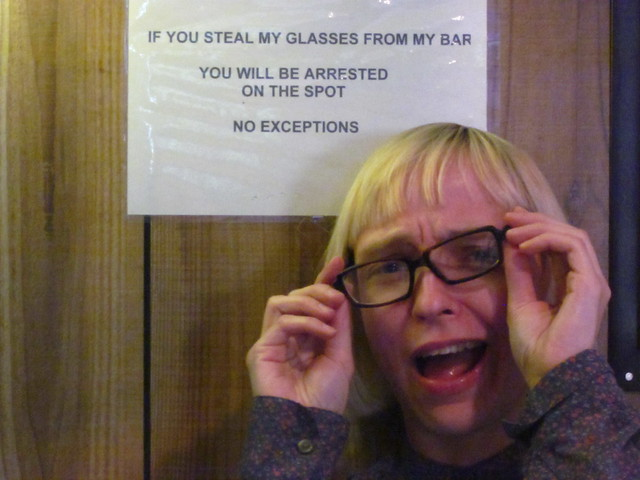 If you steal my glasses...