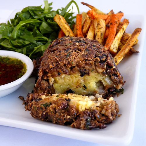 Jeni's Lentil and Mushroom Loaf with Savory Potato Filling