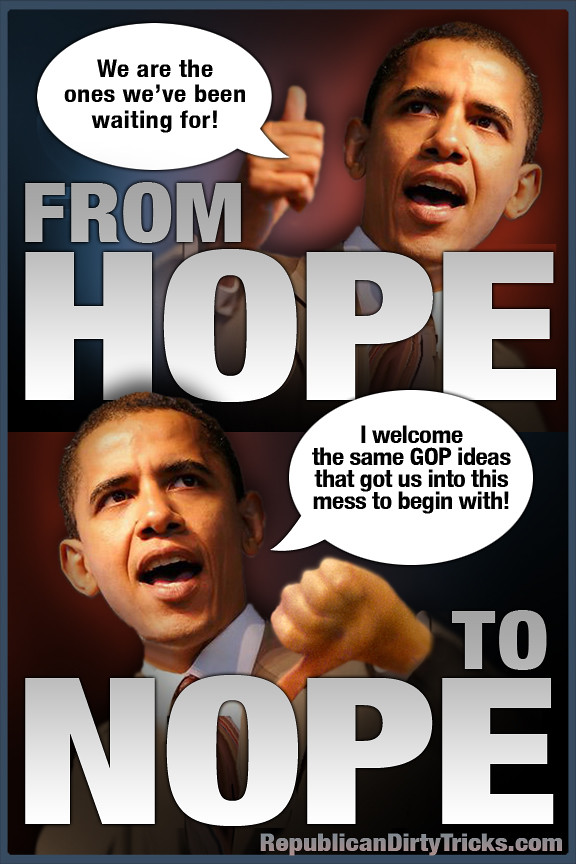 Barack Obama From Hope To Nope Image