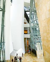 Guggenheim (Bilbao) no. 10 (samuel ludwig) Tags: summer museum architecture frank spain nikon europe gehry bilbao guggenheim d200 nikkor 2010 24mmpce paris2010