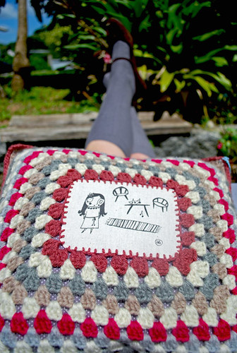 "Nitinha's cushion ""At home"" by good mood factory"
