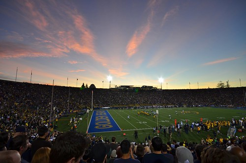 Sunset at Memorial Stadium