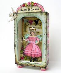 *HoPe & DReaMs* (sPaRK*YouR*iMaGiNaTioN) Tags: wood pink original art vintage butterfly paper wings doll folk assemblage dove banner ephemera fairy fantasy shadowbox alteredart bunting crowns effa zne debrinapratt cssteam