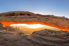Mesa Arch Sunrise (NickSouvall) Tags: mesa arch arches national park moab utah desert landscape nature sunrise sun starburst star flare blue sky orange rock glow wild wilderness