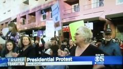 Phyllis at Anti-Trump Rally - CBS 5 News Video (fabola) Tags: antitrump cityhall community democrats marin northbay politics protest rally rights signs sanrafael socialchange trump tvnews