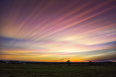 Second Sunset (Matt Molloy) Tags: mattmolloy timelapse photography timestack photostack movement motion sunset colourful sky clouds trails lines field grass trees countryside seeleysbay ontario canada landscape nature lovelife