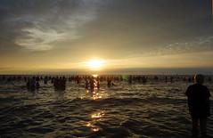 Community Soul Sunset Swim (Lydie's) Tags: swimming crowd flashmob sunset newbrighton wirral merseyside people burbobank