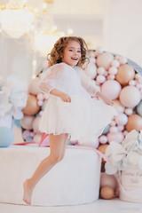 LeonaStage (olgagalkina1) Tags: leonastage nn people color canon portrait girl white balloons flowers powder light bright happy jumping