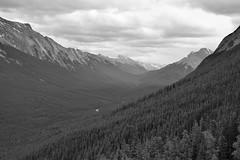 Swinging between the summits (naromeel) Tags: banff canada bw nature