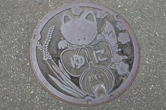 Manhole Cover (sjrankin) Tags: 29june2017 edited yuni hokkaido japan yunigarden manholecover