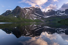 Lofoten Reflected (Fab Boone Photo) Tags: lake water reflection sky mirror nature mountain sunset fabienboone fabboone