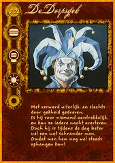 """De dorpsgek"" role card from my home-made Werewolf mega-set"