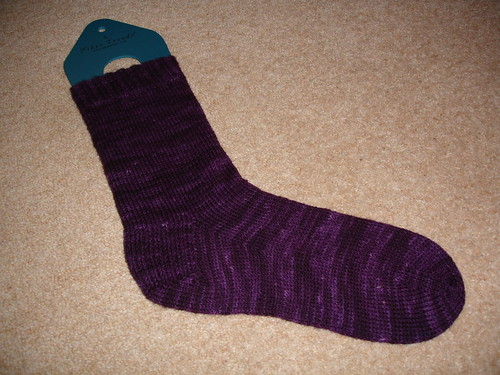 perfect purple sock WIP