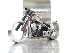Sportster Evo nuts and bolts motorcycle sculpture