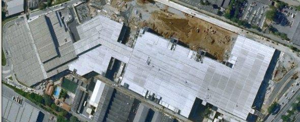 Shopping União visto pelo Google Earth.