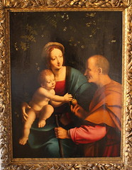 Francesco MELZI, The Holy Family (Ondra Havala) Tags: wood family art history museum canon painting gallery prague sigma galerie holy exposition national frame painter oil francesco highiso olej malba noisereduction 2470 sternberg melzi palc 40d canon40d ternbersk