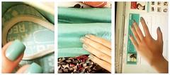 my nails (Luana :)) Tags: green shoes aqua fingers clothes nails colored orkut mermaid adidas impala unhas sereia esmalte