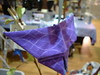 Purple Origami Butterfly Ornament 2