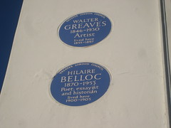 Photo of Hilaire Belloc blue plaque
