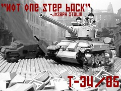 Not one step back-Lego T-34/85 (Justsuper9) Tags: berlin socks one back tank lego wwii step t34 not brickarms brickmania