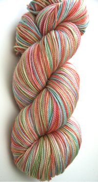 """Watercolors"" on Eclipse twist sock *sale*"