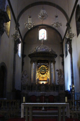 The altar at the Church of the Conception